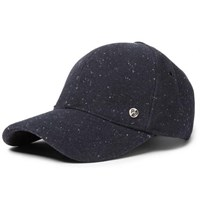 Paul Smith Lee Donegal Wool Baseball Cap Navy