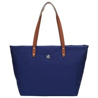 Ralph Lauren Bainbridge Nylon Tote Bag Bright Navy