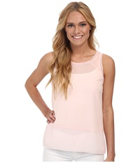 French Connection Polly Plains Raw Edge Deco Blush Women's Sleeveless Pink