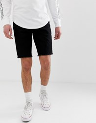 Hollister Skinny Fit Denim Shorts In Black