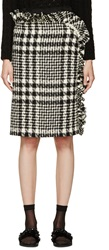 Simone Rocha Black And White Tweed Skirt