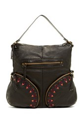 T Shirt And Jeans Washed Embroidered Hobo Black