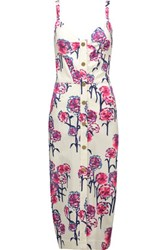 Tanya Taylor Antonia Printed Twill Dress White