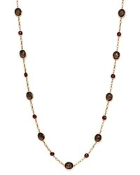 Bloomingdale's Smoky Quartz And Garnet Necklace In 14K Yellow Gold 30 Brown Red