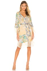 Spell And The Gypsy Collective Willow Tasseled Mini Dress Yellow