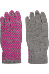 Marc By Marc Jacobs Wool And Cashmere Blend Gloves Gray