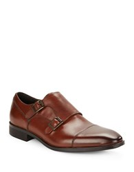 Black Brown Balboa Monk Strap Shoe Cognac