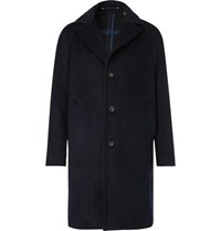 Private White V.C. Woolmark Wool And Cashmere Blend Coat Navy