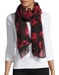 Lord And Taylor Sheer Rose Scarf