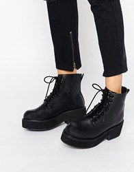 Asos Alexander Lace Up Chunky Ankle Boots Black