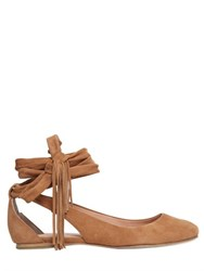 Sigerson Morrison 10Mm Wrap Around Suede Ballerinas