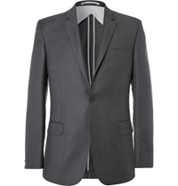 Kilgour Charcoal Slim Fit Super 110S Wool Suit Jacket Gray