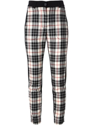 Isola Marras Tartan Pattern Trousers Black