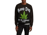 Madeworn Up In Smoke Distressed Cotton Blend Sweatshirt Black
