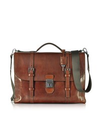 The Bridge Briefcases Byron Brown Leather Briefcase
