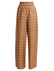 Golden Goose Sophie High Rise Checked Trousers Orange Multi
