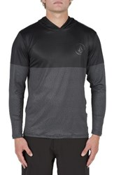 Volcom Men's Hooded Surf Shirt Stealth