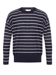 Ami Alexandre Mattiussi Long Sleeved Striped Wool Sweater