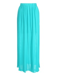 Jane Norman Pleated Maxi Skirt Green