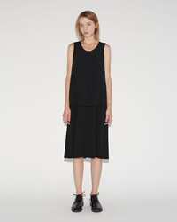 Sara Lanzi Stretch Crepe Dress Black