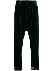 Di Liborio Drop Crotch Velvet Trousers Green