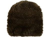 Barneys New York Women's Fur Slouchy Beanie Green