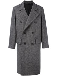 Ami Alexandre Mattiussi Double Breasted Long Coat Men Other Fibres Virgin Wool Polyimide 50 Black