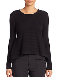 Opening Ceremony Linear Delta Peplum Sweater Black
