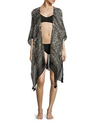 Collection 18 Amoda Paisley Printed Wrap Black