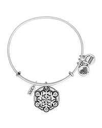 Alex And Ani Snowflake Expandable Wire Bangle