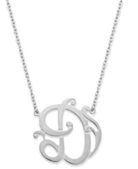 Giani Bernini Sterling Silver Necklace 'D' Initial Pendant Necklace