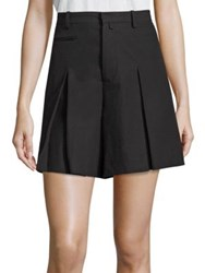 R 13 Inverted Box Pleated Shorts Black