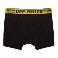 Off White Black Industrial Tape Boxer Briefs
