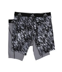 Adidas Sport Performance Climalite Graphic 2 Pack Midway Black Draven Grey Black Men's Underwear