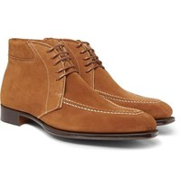 George Cleverley Beattie Suede Boots Brown