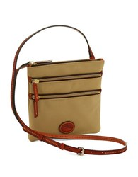 Dooney And Bourke North South Triple Zip Crossbody Khaki