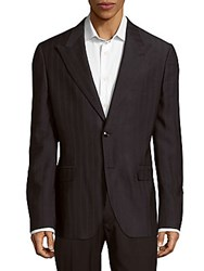 Versace Silk Blend Textured Sport Coat Navy