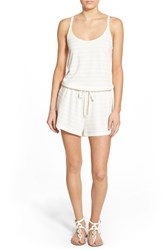 Women's Roxy 'Summer Lovin' Crochet Back Cover Up Romper