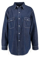 Earnest Sewn Adee Shirt Mid Blue Blue Denim