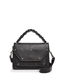 Elena Ghisellini Eclipse Starry Night Medium Leather Satchel Black Silver