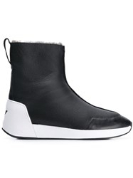 Ash Shearling Lined Boots Black