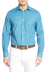 Men's Bobby Jones 'Dormie' Regular Fit Long Sleeve Plaid Sport Shirt Light Blue