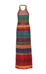 Spencer Vladimir Tulum Halter Dress Multi