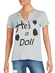 Wildfox Couture He's A Doll Woody Tee Heather Grey