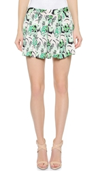 Veronica Beard Palm Garden Pleated Skort