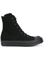 Rick Owens Drkshdw Lace Up High Top Sneakers Black