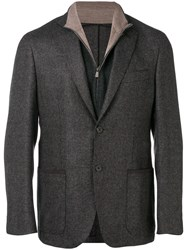 Corneliani Fleece Suit Jacket Grey