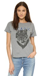 Style Stalker Geaux Tigers Distressed Tee Heather Grey