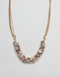 Coast Crystal Cluster Chain Necklace Gold