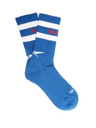 Vetements X Reebok Edition Classic Cotton Blend Socks Blue